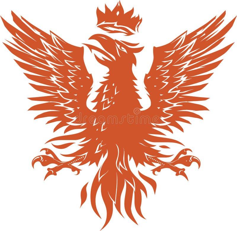 Middeleeuws Phoenix stock illustratie