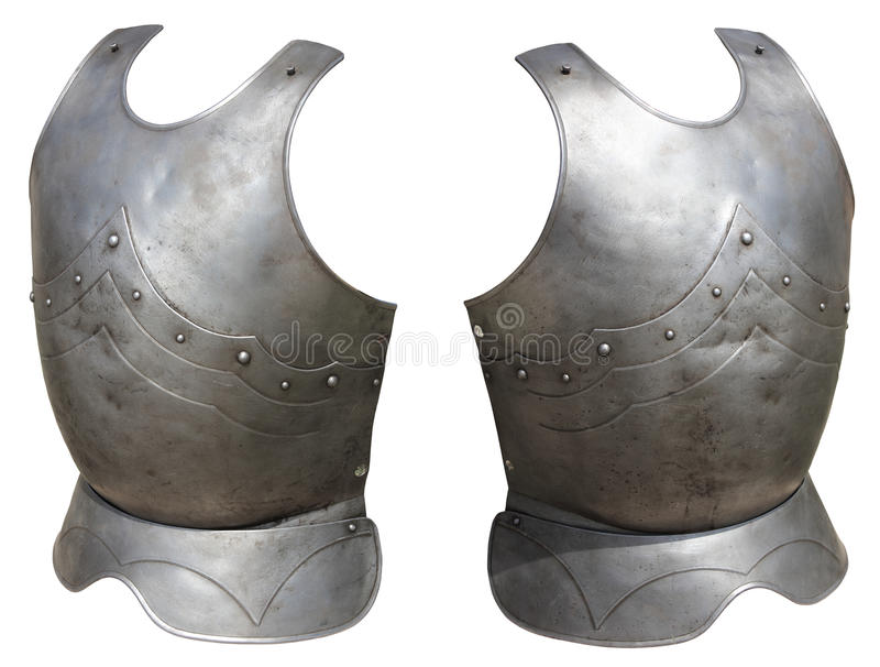 Middeleeuws ridderpantser stock foto