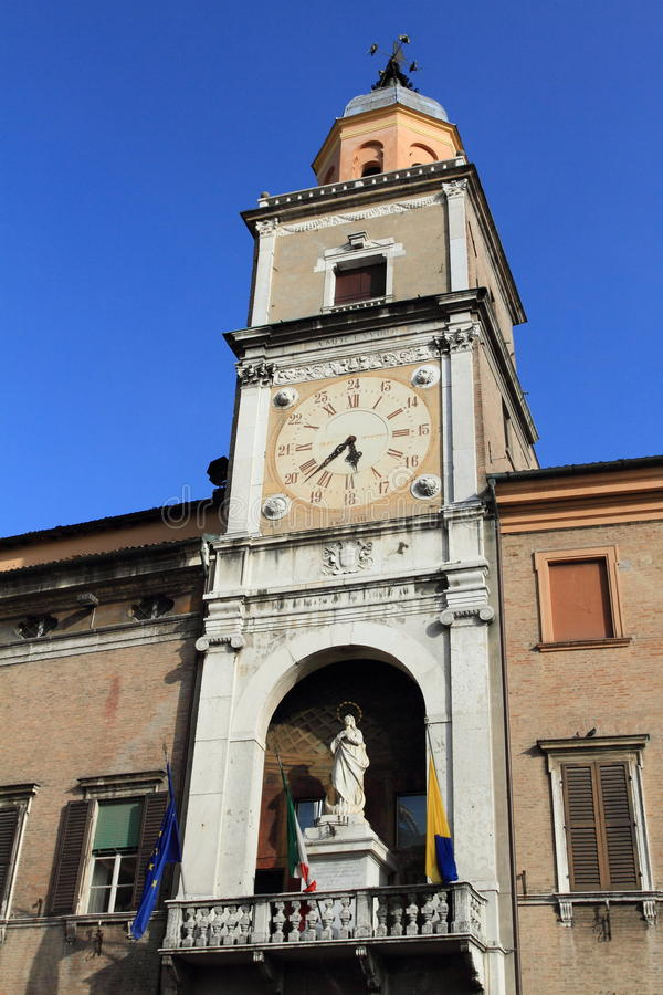 Middeleeuws stadhuis, Modena royalty-vrije stock foto