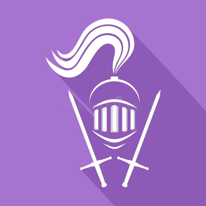 Middeleeuws strijderssymbool vector illustratie