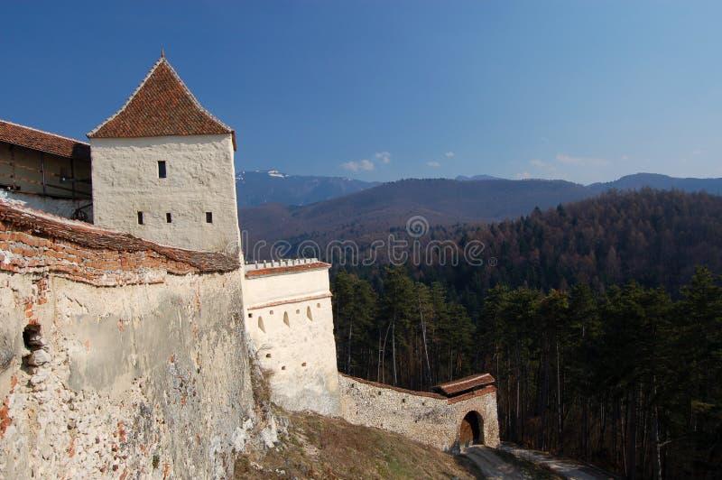 Middeleeuws vestingwerk stock afbeelding