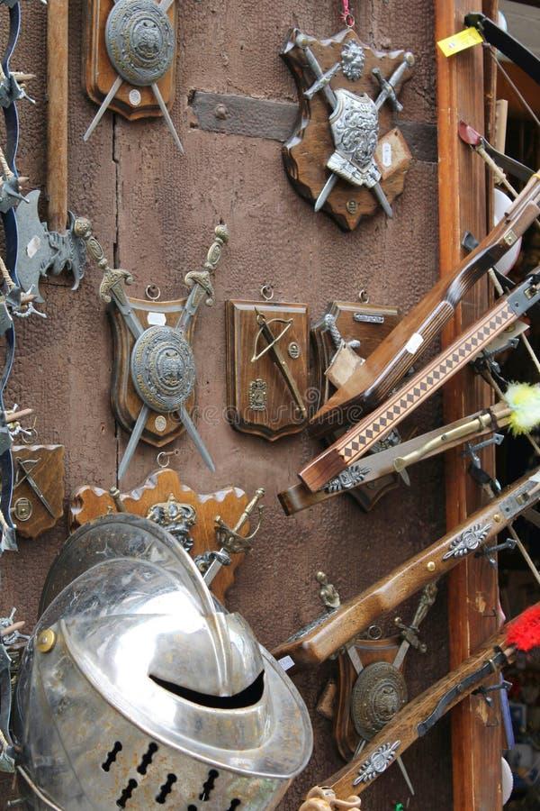 Middeleeuws wapen stock afbeelding