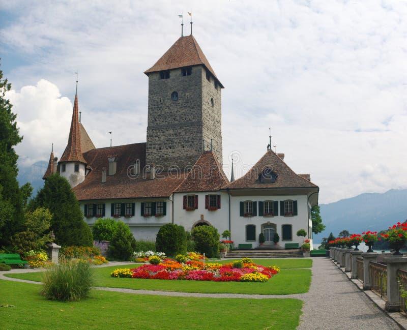 Middeleeuws Zwitsers kasteel royalty-vrije stock fotografie
