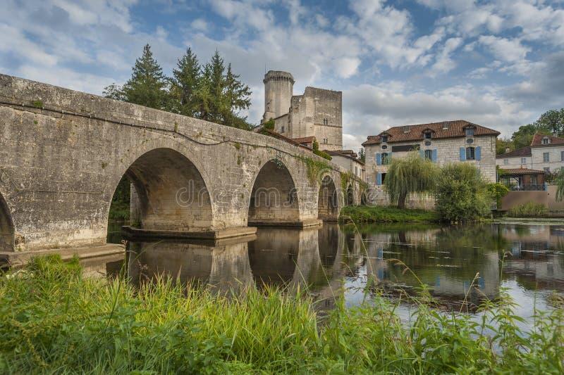 Middeleeuwse Brug In Frankrijk Royalty-vrije Stock Afbeeldingen