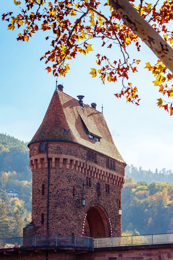 Middeleeuwse brugpoort royalty-vrije stock afbeeldingen