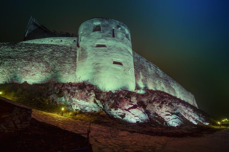 Middeleeuwse Deva Fortress in Europa, Roemenië stock fotografie