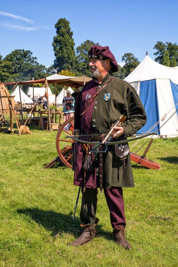 Middeleeuwse Engelse Crossbowman stock afbeelding