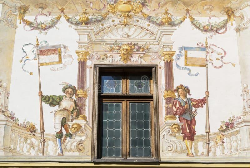 Middeleeuwse fresko stock afbeeldingen