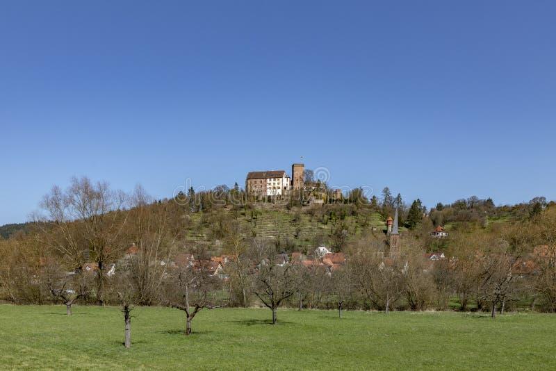 Middeleeuwse Gamburg onder blauwe hemel royalty-vrije stock foto