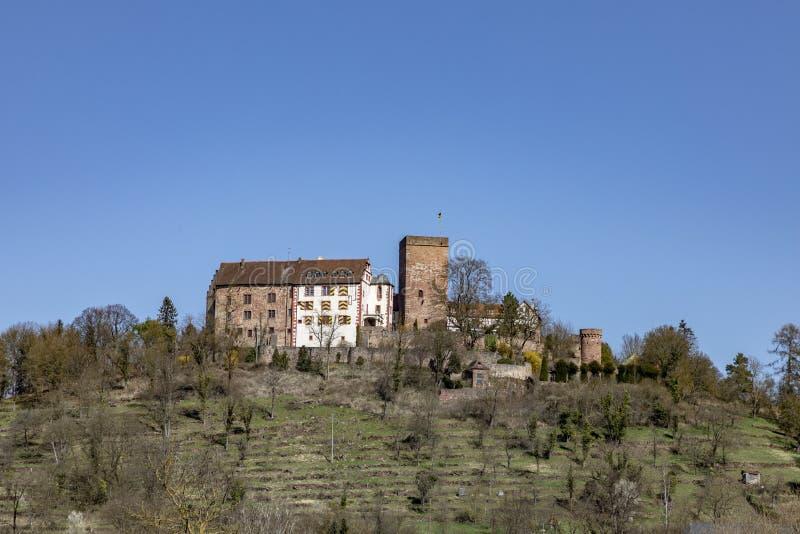 Middeleeuwse Gamburg onder blauwe hemel stock afbeelding