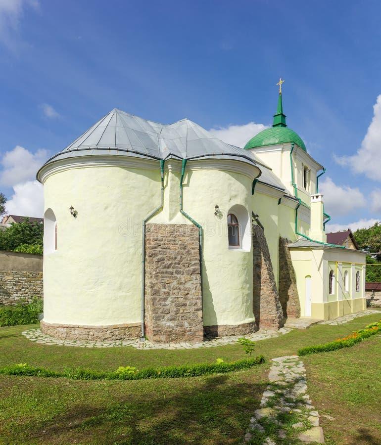 Middeleeuwse Heilige Apostelen Peter en Paul Church, kamianets-Podilskyi, de Oekra?ne stock fotografie