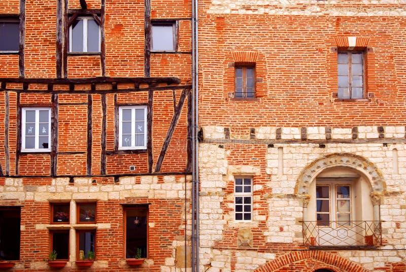 Middeleeuwse huizen in Albi Frankrijk royalty-vrije stock afbeeldingen