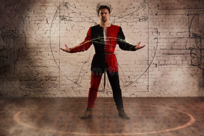 Middeleeuwse illusionist stock afbeelding
