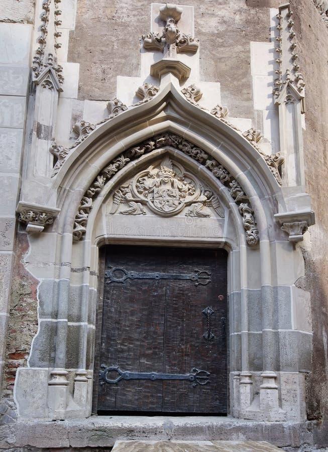 Middeleeuwse kasteelingang royalty-vrije stock foto