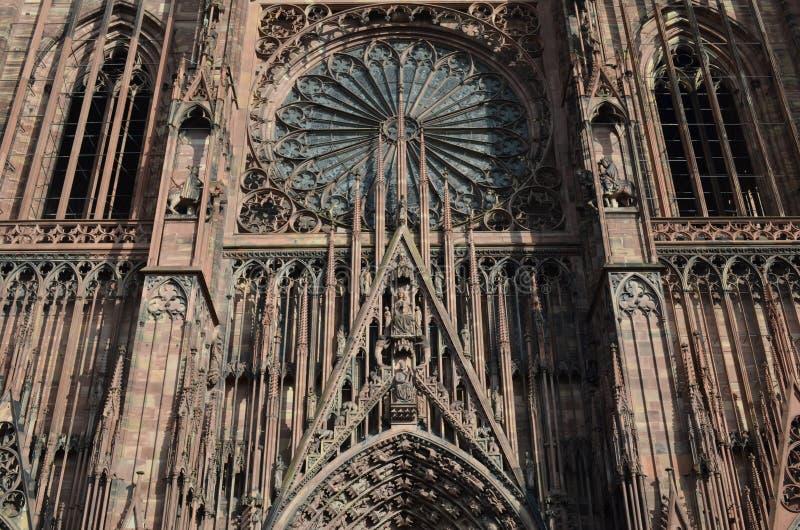 Middeleeuwse Kathedraal van Straatsburg in Frankrijk royalty-vrije stock fotografie