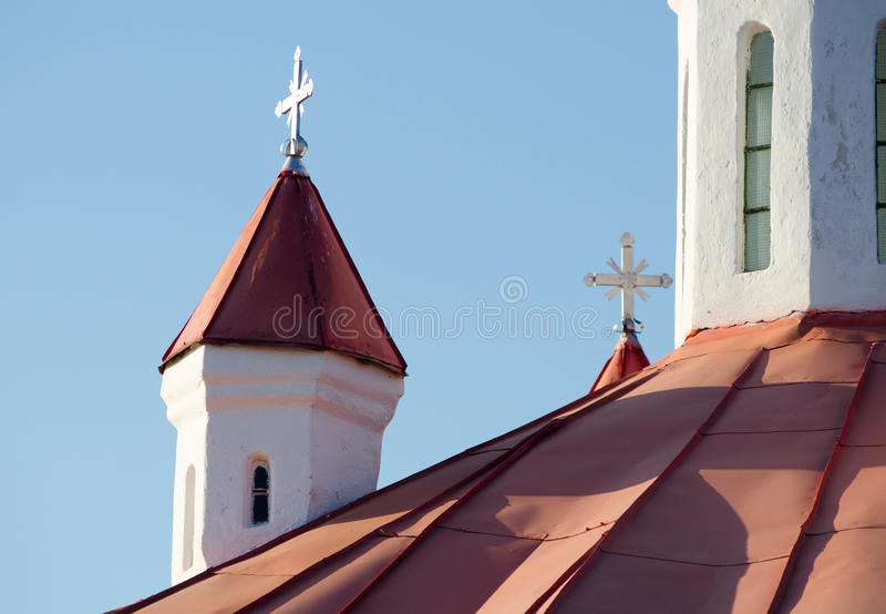 Middeleeuwse Katholieke kapel in Transsylvanië royalty-vrije stock afbeeldingen