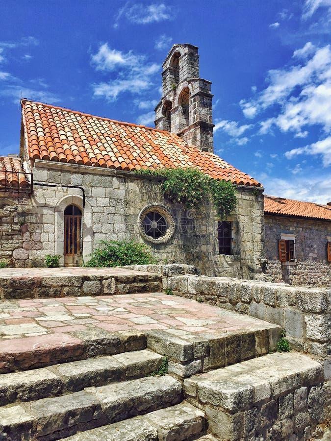 Middeleeuwse Kerk, Budva, Montenegro stock afbeeldingen