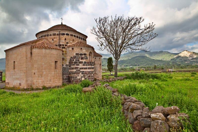 Middeleeuwse kerk Italië Sardinige stock afbeelding