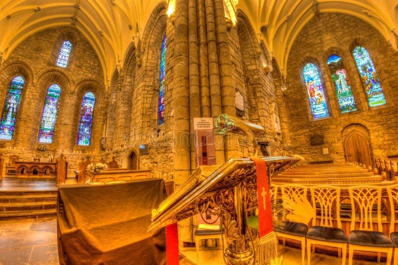Middeleeuwse kerkhooglanden royalty-vrije stock afbeelding
