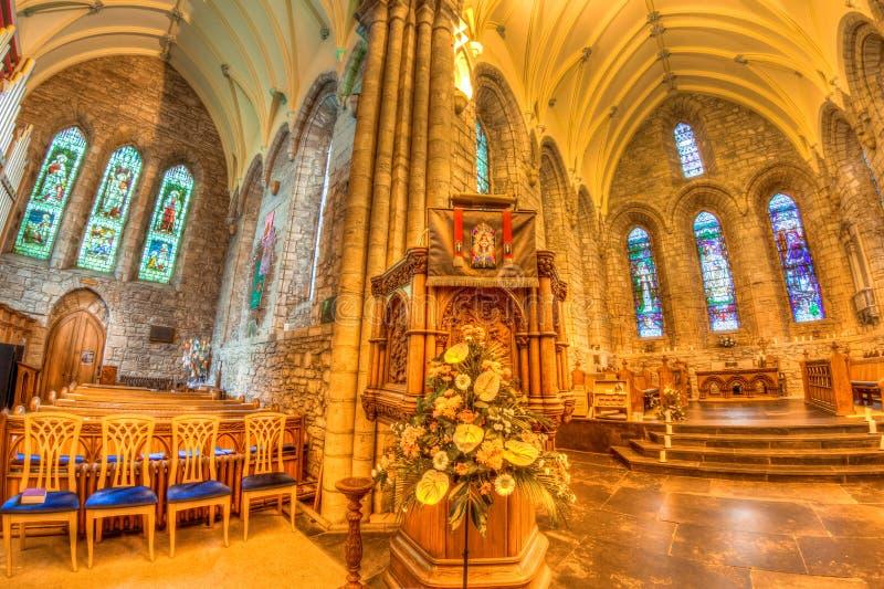 Middeleeuwse kerkhooglanden stock foto's