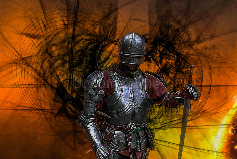 Middeleeuwse Knight royalty-vrije illustratie