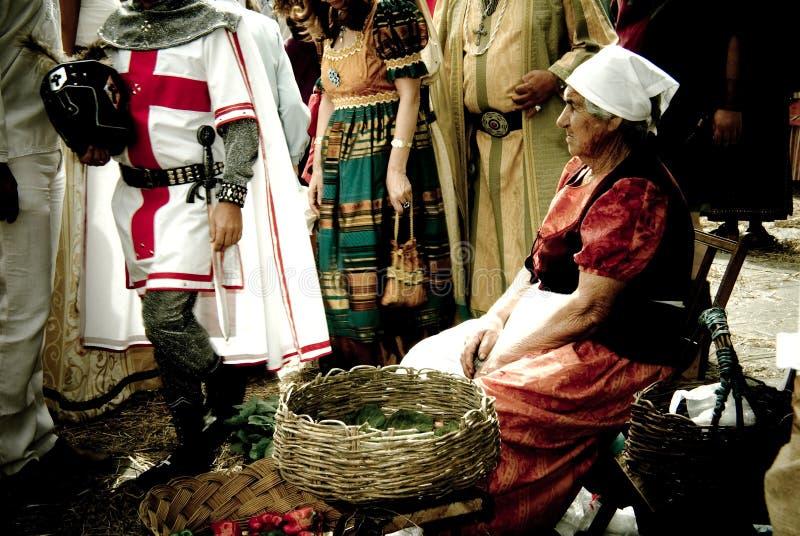 Middeleeuwse markt royalty-vrije stock afbeeldingen