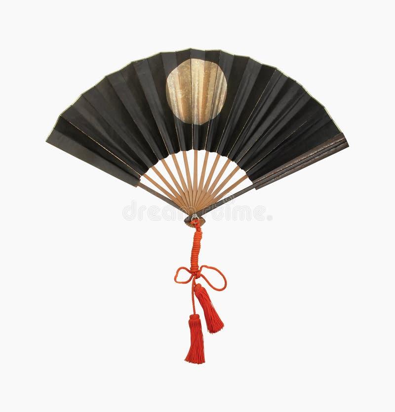 Middeleeuwse militaire samuruai fan2 stock afbeelding