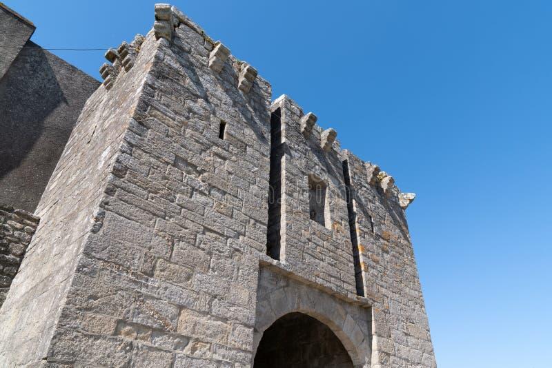 Middeleeuwse muren van Guerande Frankrijk de Loire Atlantique stock fotografie