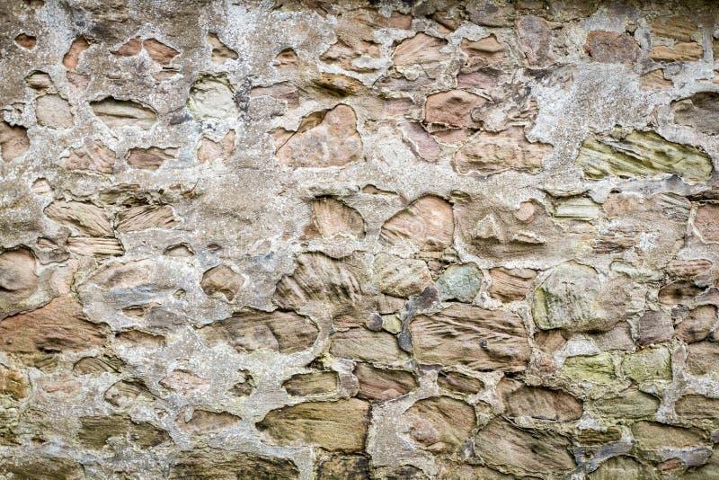 Middeleeuwse Muur Gemaakt ââfrom Tot Stenen Stock Foto