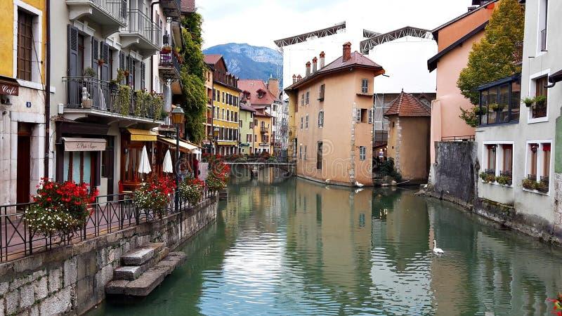 Middeleeuwse oude stad van Annecy, Haute Savoie, Frankrijk royalty-vrije stock foto's