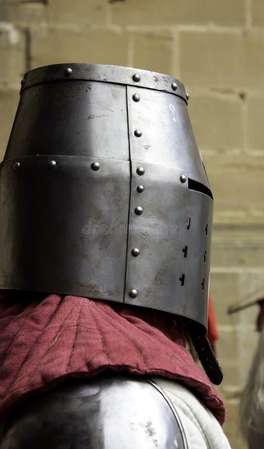 Middeleeuwse pantserhelm royalty-vrije stock fotografie