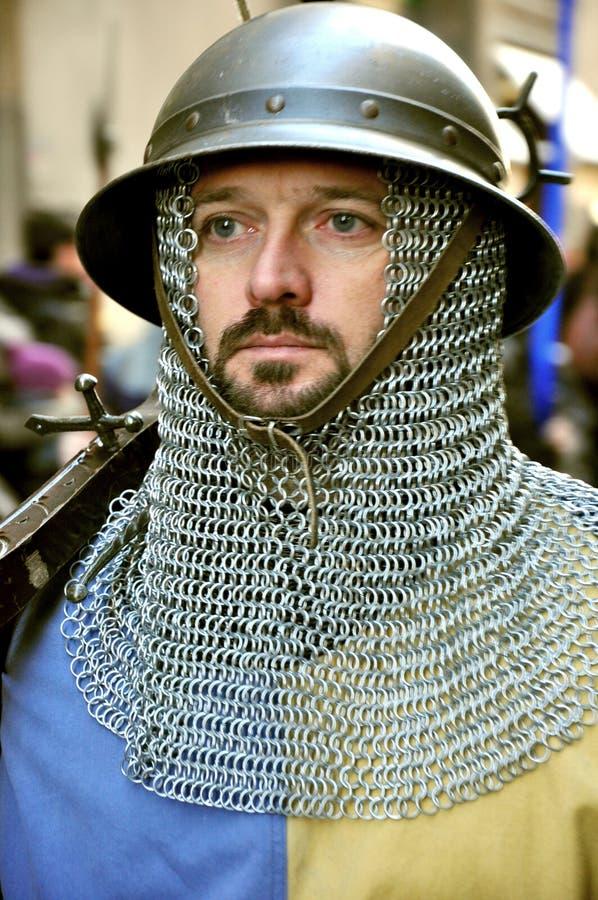 Middeleeuwse parade in Italië royalty-vrije stock afbeeldingen