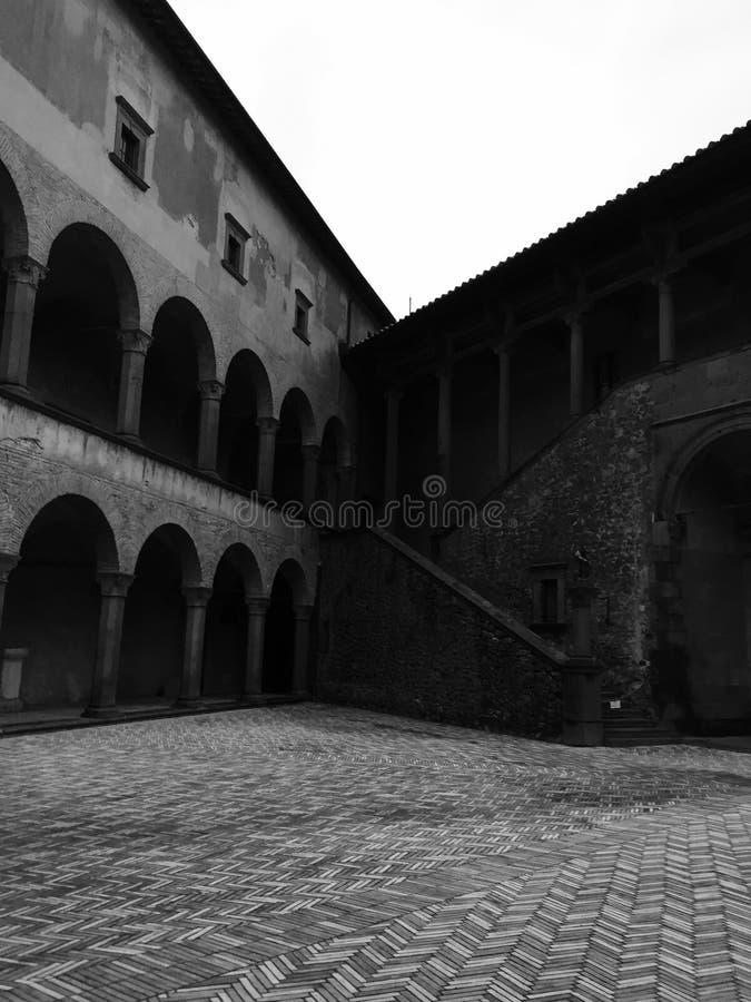 Middeleeuwse Piazza royalty-vrije stock afbeelding