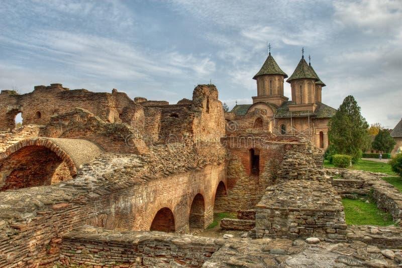 Middeleeuwse plaats stock afbeelding