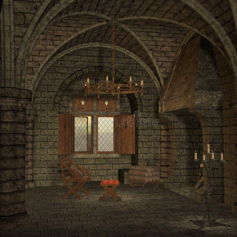 Middeleeuwse Plaats royalty-vrije illustratie