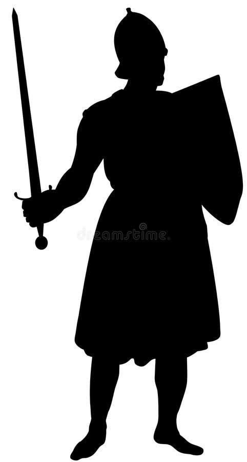 Middeleeuwse Ridder royalty-vrije illustratie