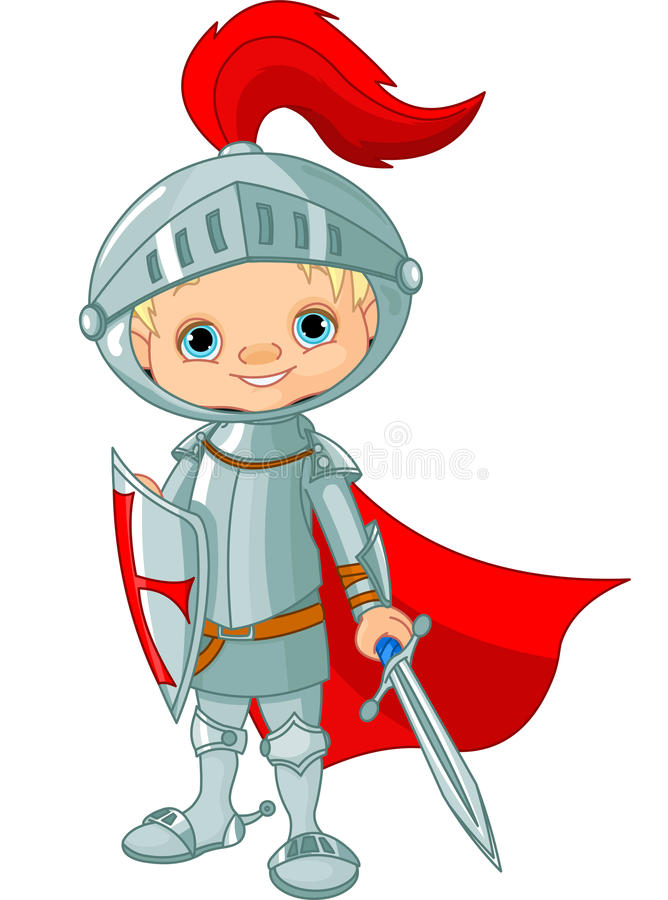 Middeleeuwse ridder stock illustratie