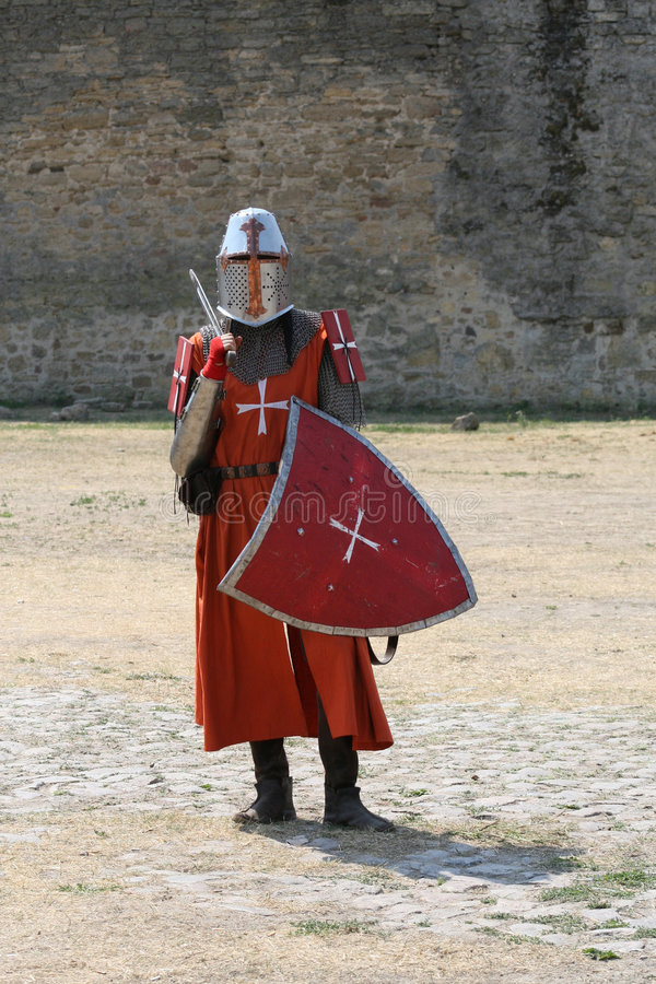 Middeleeuwse ridder. royalty-vrije stock foto