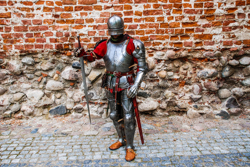Middeleeuwse ridderlord stock afbeelding