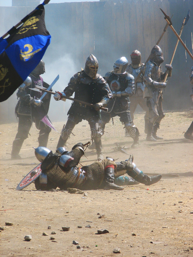 Middeleeuwse ridders stock fotografie