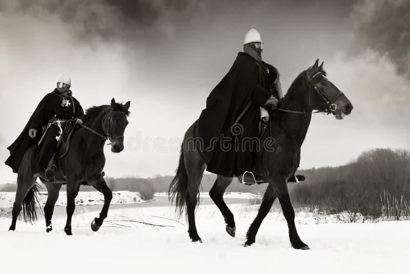 Middeleeuwse ridders van St. John (Hospitallers) royalty-vrije stock foto's