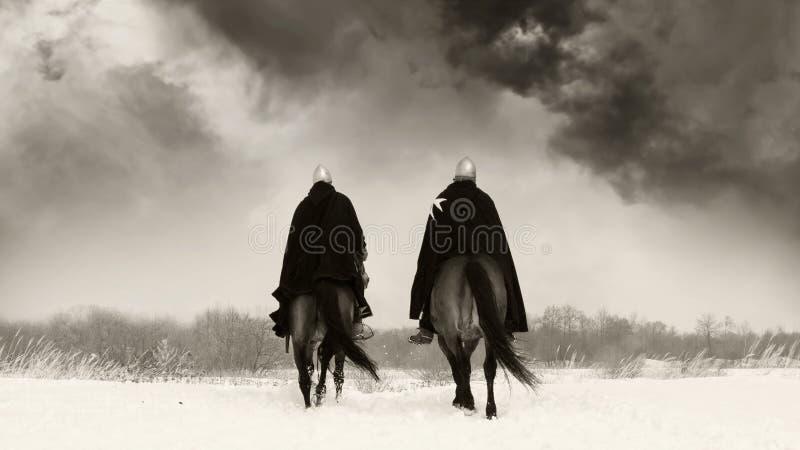 Middeleeuwse ridders van St. John (Hospitallers) royalty-vrije stock foto