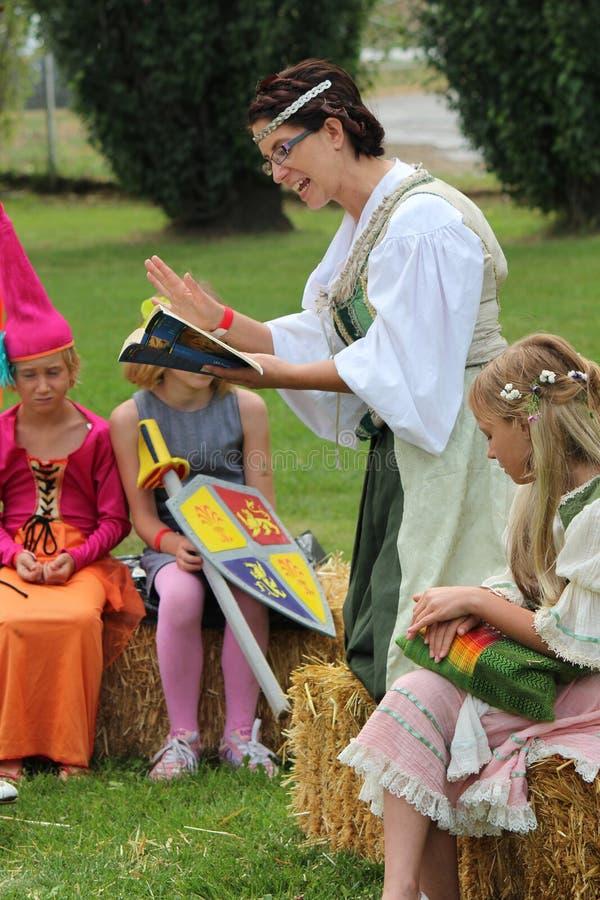 Middeleeuwse School stock foto's