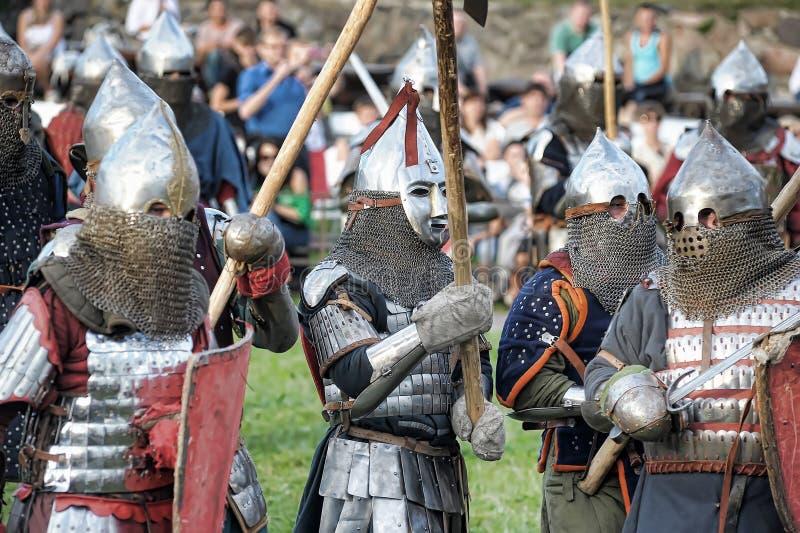 Middeleeuwse slag royalty-vrije stock afbeelding
