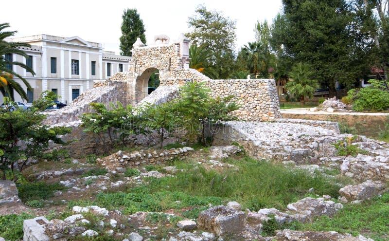 Middeleeuwse stad Nafplio in de Peloponnesus, Griekenland stock foto