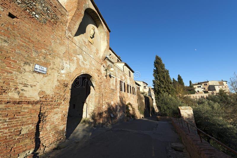 Middeleeuwse Stad van Certaldo - Toscanië Italië stock foto