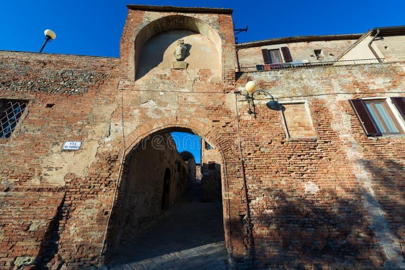 Middeleeuwse Stad van Certaldo - Toscani? Itali? stock foto's