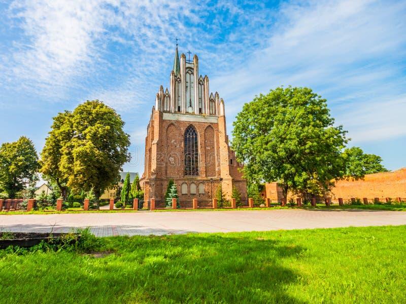 Middeleeuwse Stara Fara Church in Swiecie royalty-vrije stock afbeeldingen