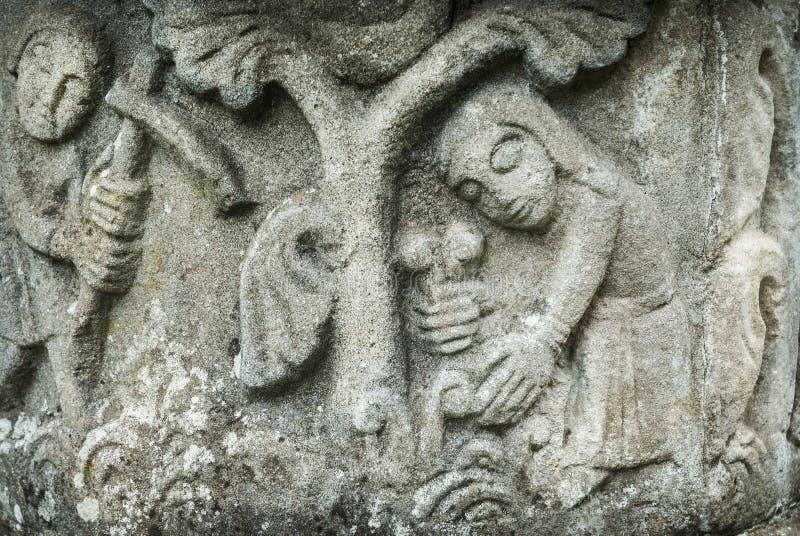 Middeleeuwse Steengravure stock afbeelding