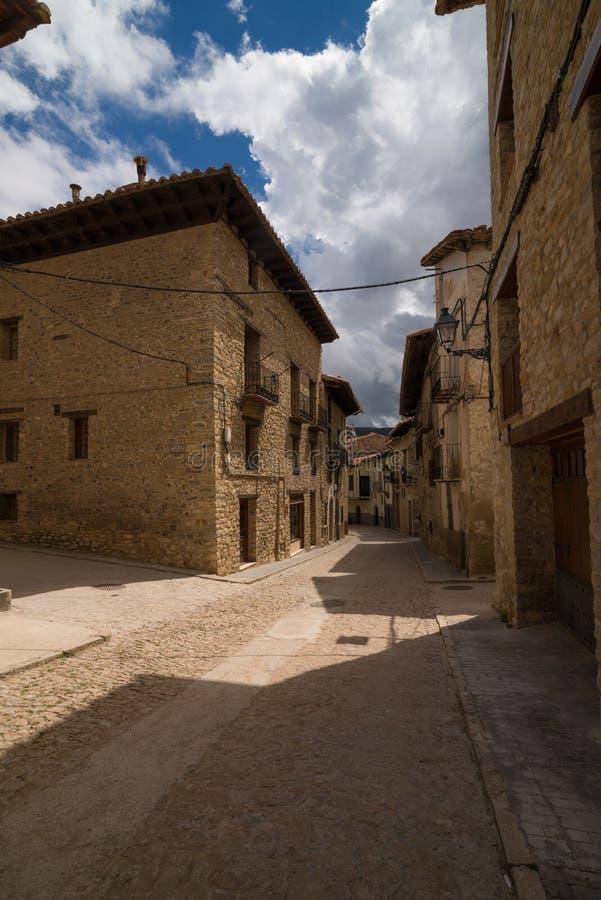 Middeleeuwse straat stock afbeelding